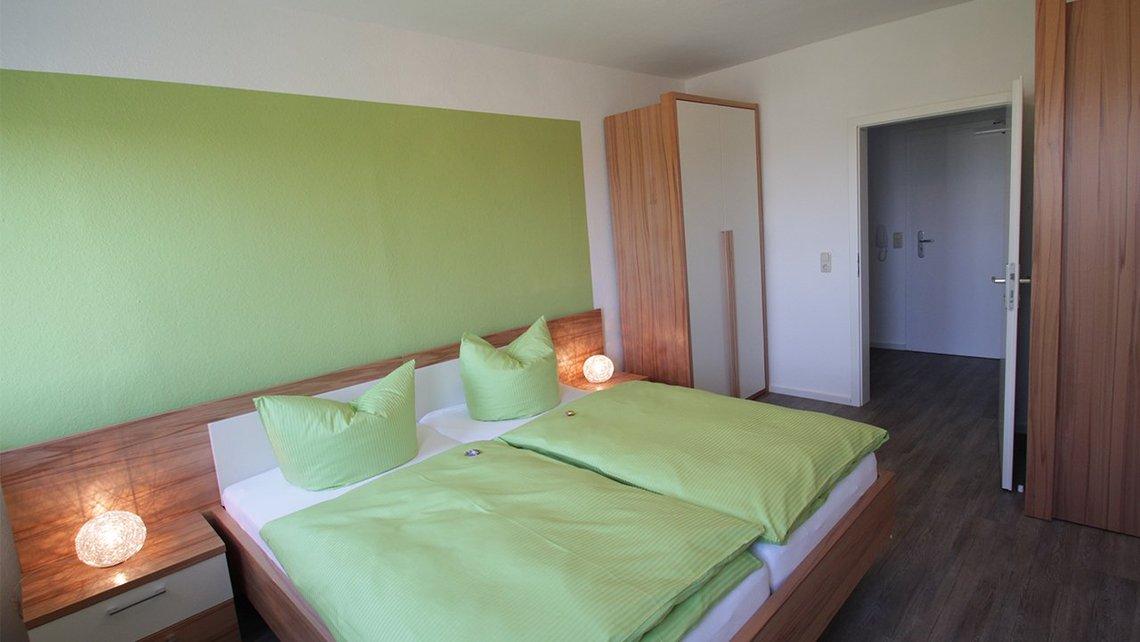 Bild des Schlafzimmers der Gästewohnung See