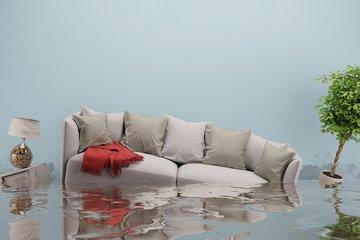 Bild einer überschwemmten Wohnung