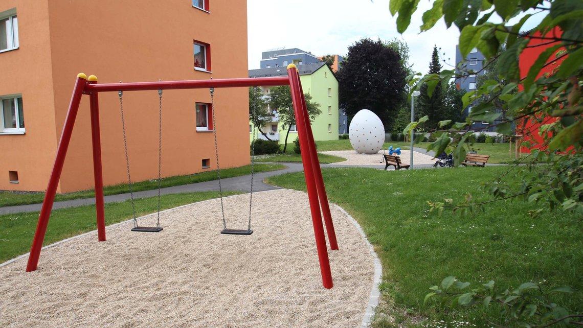 Bild des Spielplatzes in der Alsenberger Straße