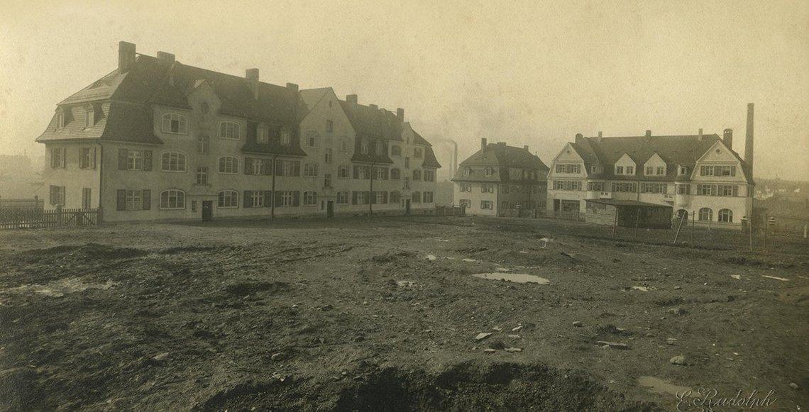 """Bild der """"Urzelle"""" der Baugenossenschaft um 1910"""