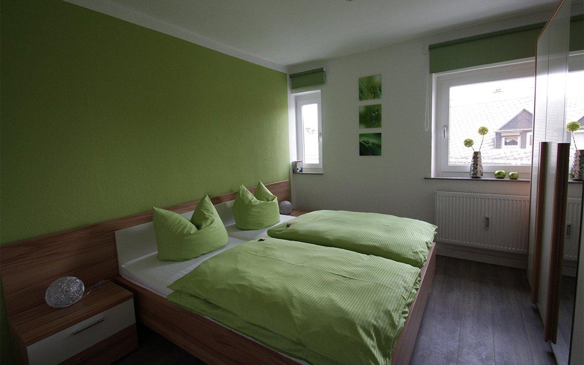 Bild des Schlafzimmers der Gästewohnung Park