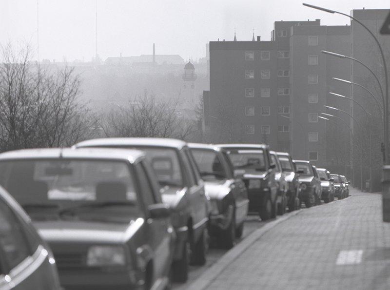 Bild vom Wohngebiet am Heiligengrabfeldweg in der Zeit des Wirtschaftswunders