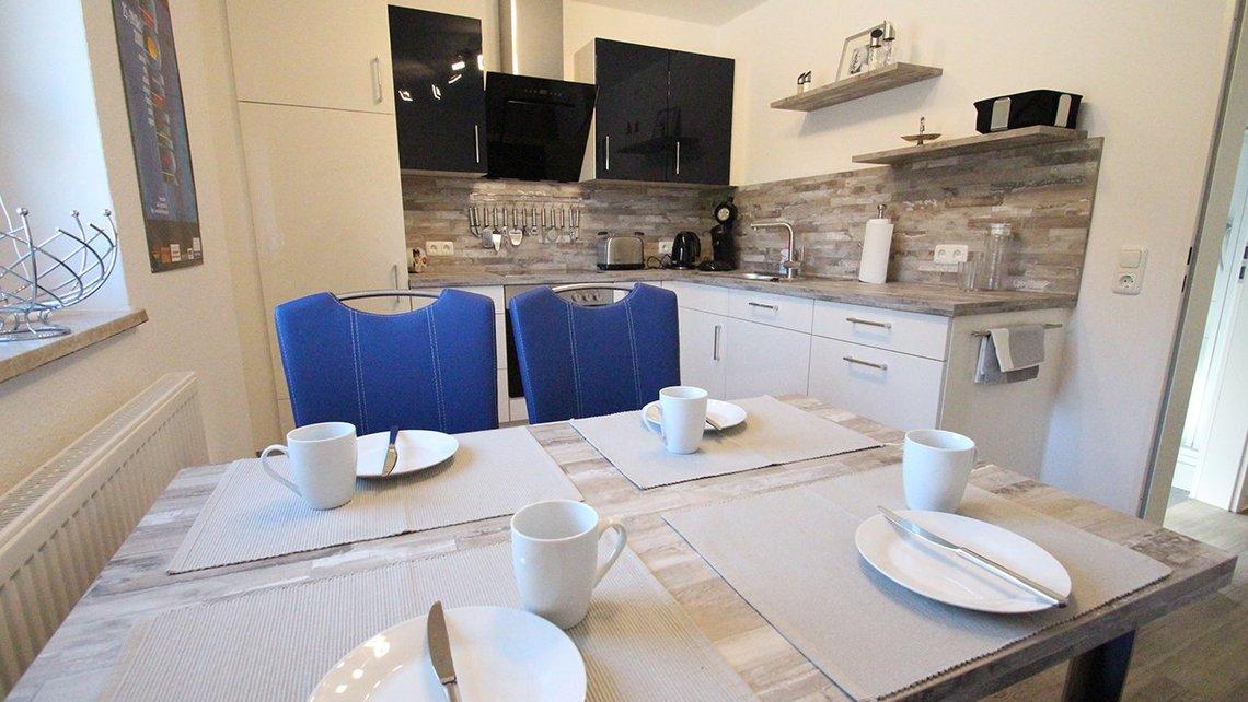 Bild der Küche der Gästewohnung Home of Films