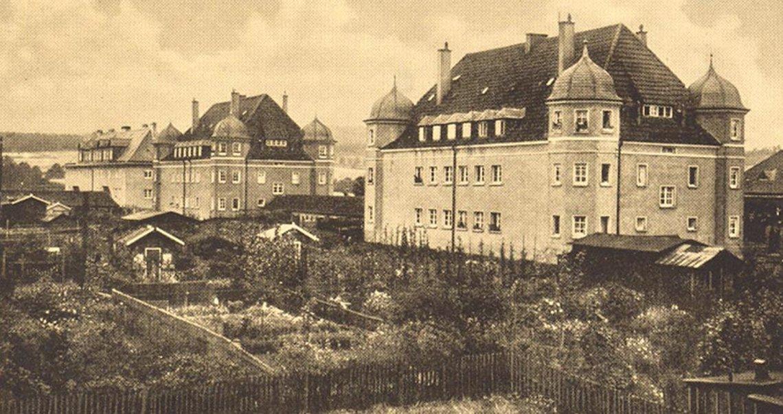 Bild der Turmhäuser der Layritzstraße 15-21