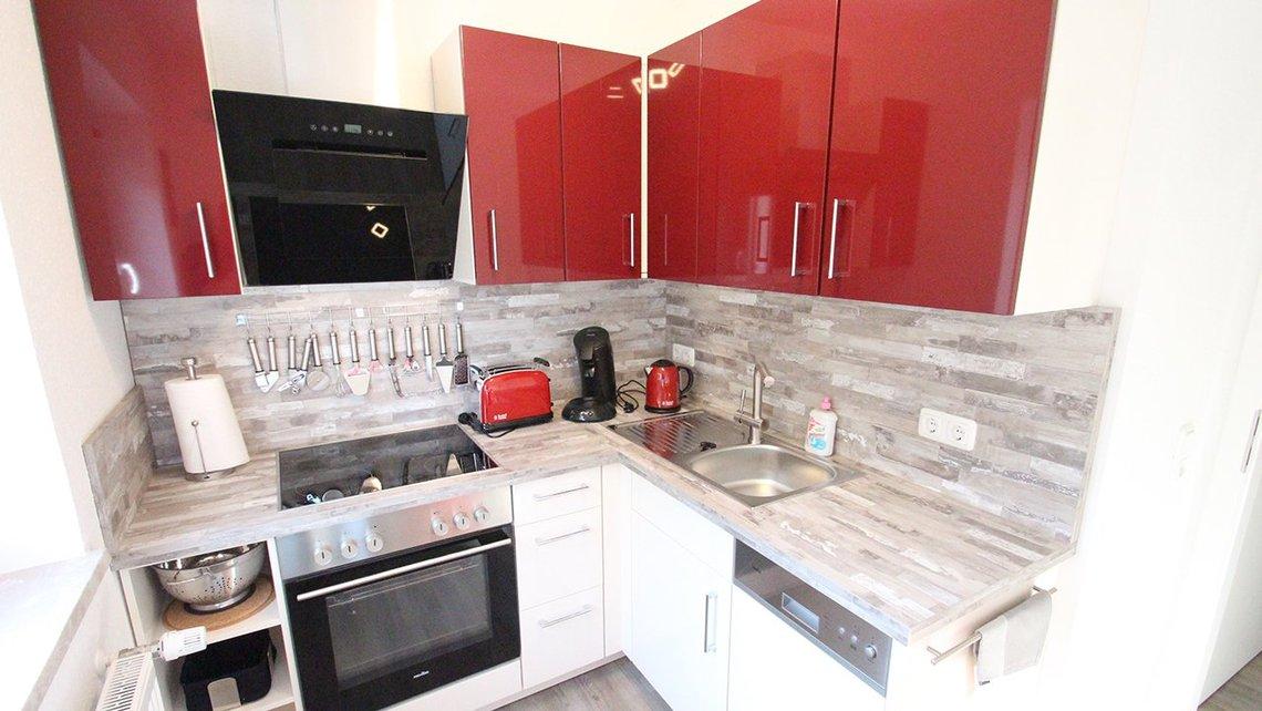Bild der Küche der Gästewohnung Home of Music