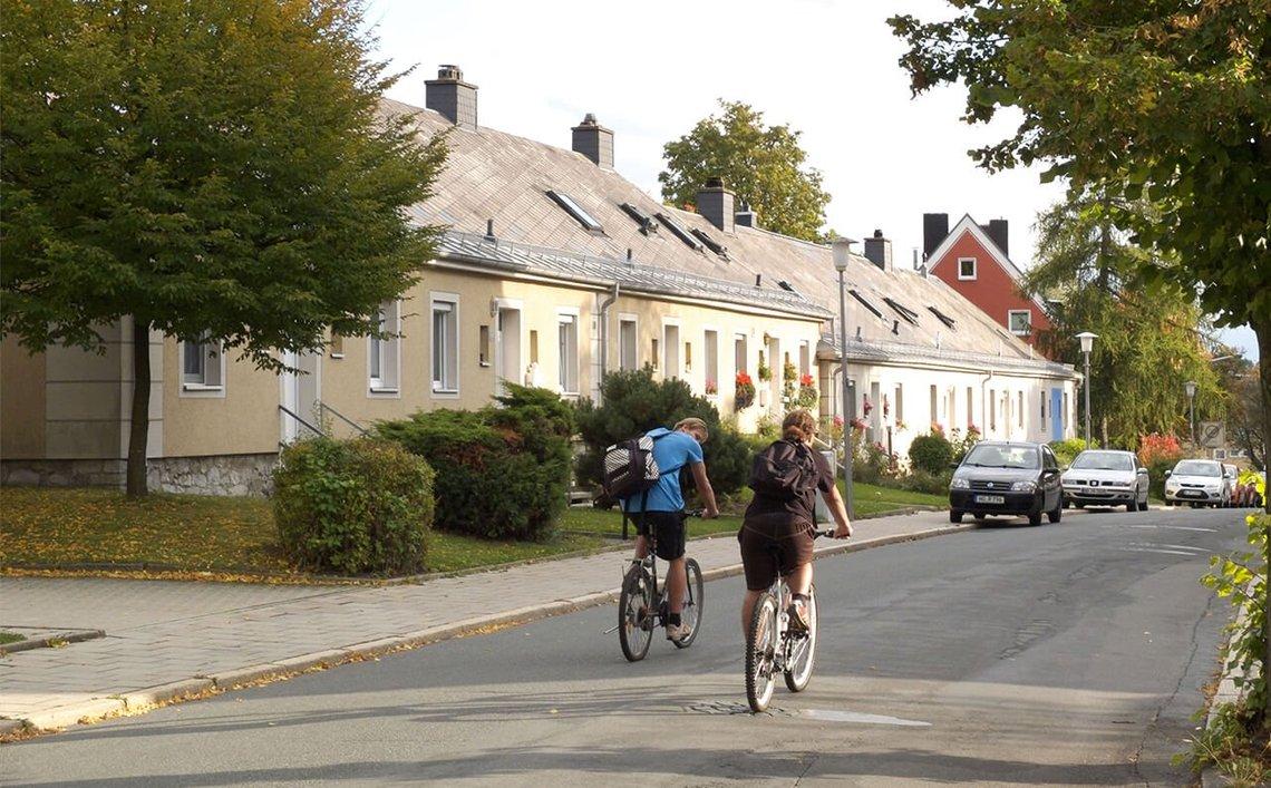Bild des Wohngebiets in der Enoch-Widman-Straße