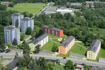 Luftbild des Wohngebietes an der Alsenberger Straße