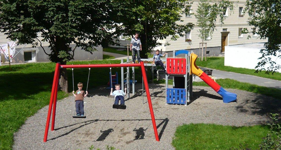 Bild vom Spielplatz in der Stephanstraße