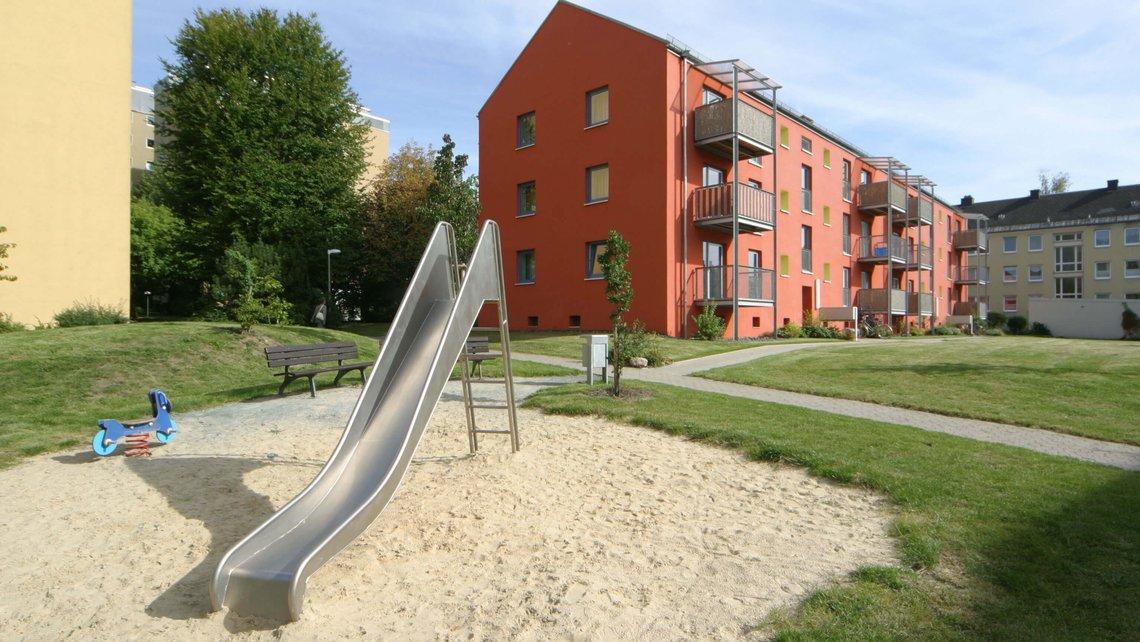 Bild des Spielplatzes im Heiligengrabfeldweg