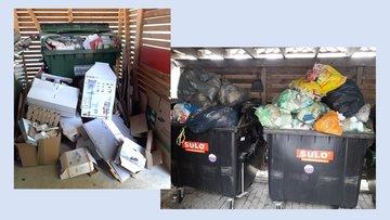 Fotos von übervollen Mülltonnen