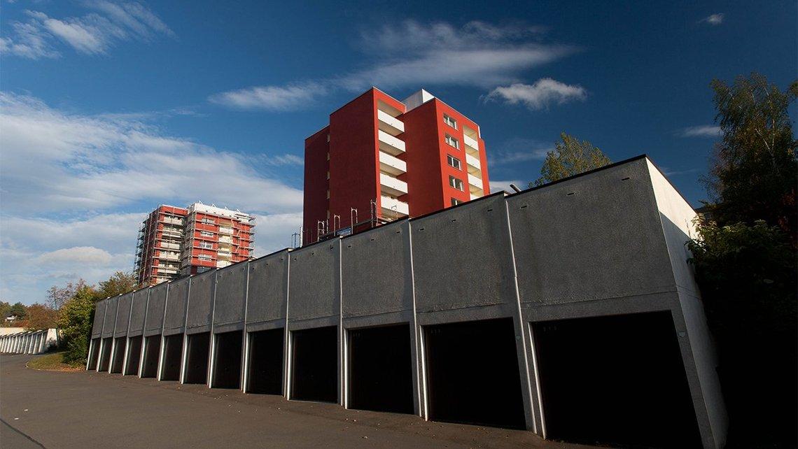 Bild vom Garagenhof am Heiligengrabfeldweg