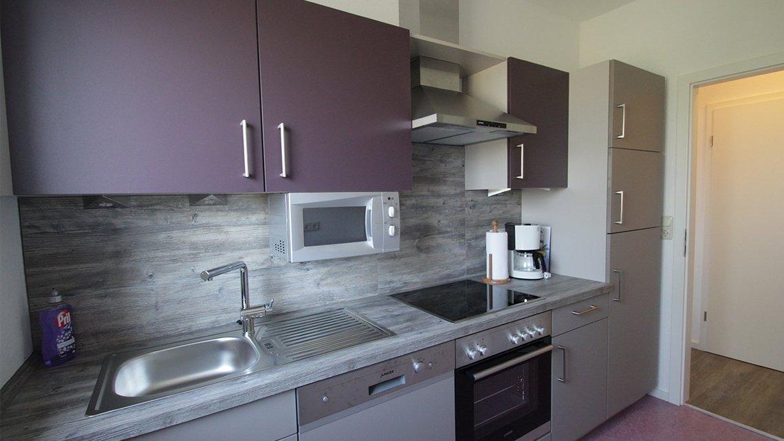 Bild der Küche der Gästewohnung See