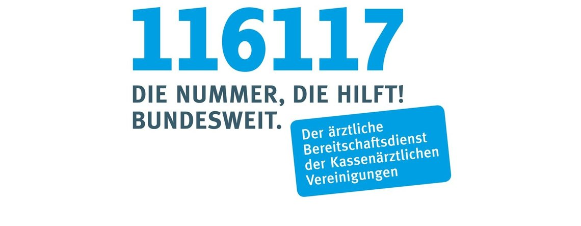 Bild der Nummer des Kassenärztlichen Bereitschaftsdienstes