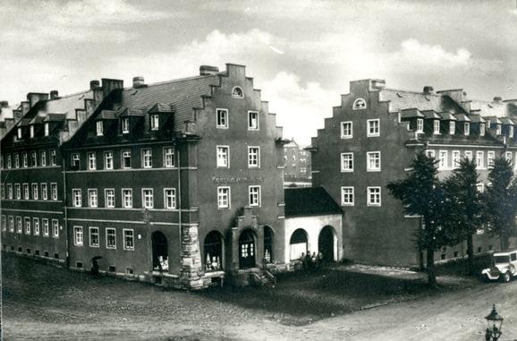 Bild der Leimitzer Straße/Ecke Jägerzeile von 1927