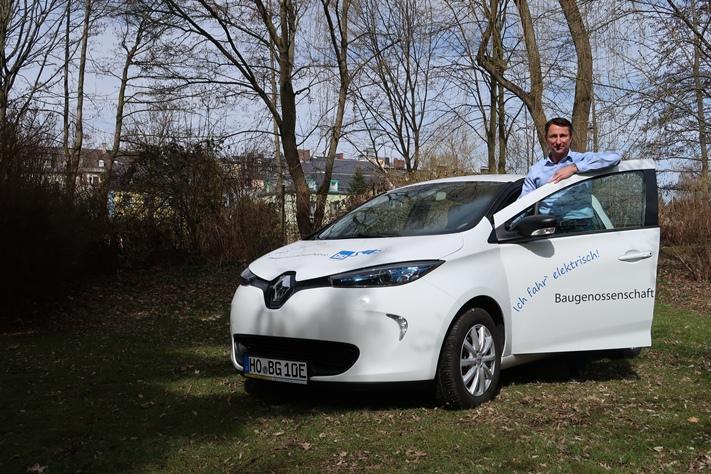 Bild mit unserem ersten Elektroauto