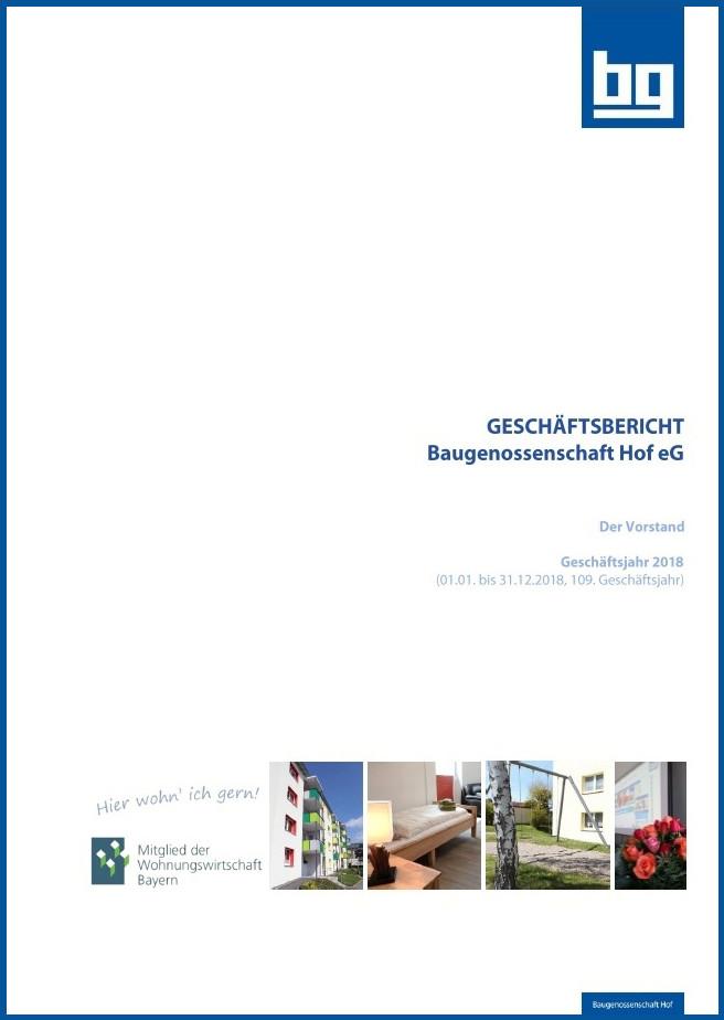 Geschäftsbericht der Baugenossenschaft Hof eG